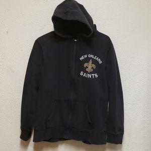 NFL New Orleans Saints Zip Up Hooded Sweatshirt